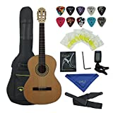 Bailando 39 Inch Full Size Nylon Classical Guitar, Natural