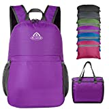 Aione Lightweight Foldable Backpack, Packable Daypack, Water and Tear Resistant, 28L, Violet