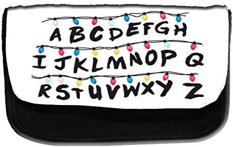 Estuche escolar con el alfabeto inspirado en Stranger Things . Estuche escolar, caja para los lápices o para el maquillaje.: Amazon.es: Oficina y papelería