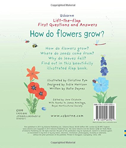 Lift-The-Flap First Questions And Answers How Do Flowers Grow ...