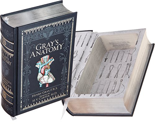 Real Hollow Book Safe - Gray's Anatomy by Henry Gray, F.R.S. with Drawings by H.V. Carter, M.D. (Leather-bound) (Magnetic Closure Optional)