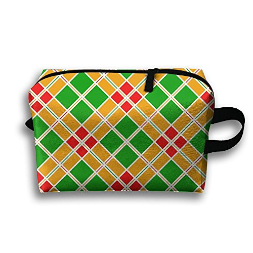 Geometric Clipart - Travel Case Cosmetic Storage Bags Colorful Geometric Pattern Clipart Makeup Clutch Pouch Organizer Bag Pencil Holder