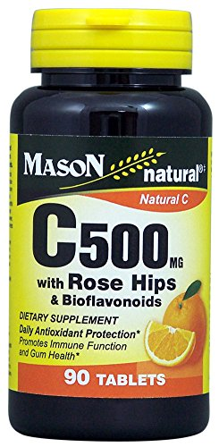 Mason Natural, C 500MG with Rose Hips and BIOFLAVONOIDS