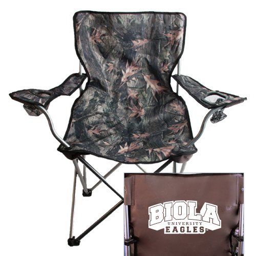 CollegeFanGear Biola Hunt Valley Camo Captains Chair 'Official Logo' by CollegeFanGear