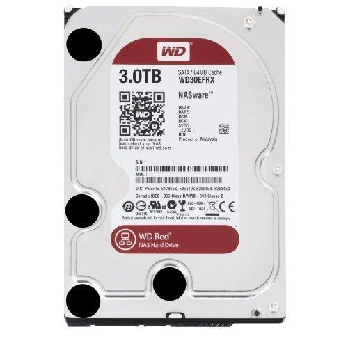 2234 opinioni per Western Digital WD Red HDD Interno, 3000 GB, SATA III, 6000 Mbit/s, 5400 rpm, 64