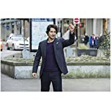 Peter Gadiot 8 Inch x 10 Inch PHOTOGRAPH Supergirl (TV Series 2015 - ) Snapping Fingers in Street kn