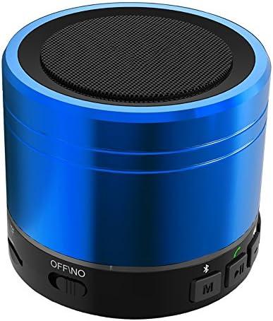 携帯用防水小型極度の低音の無線ブルートゥースのスピーカーの携帯電話のハイファイの可聴周波 (色 : 青)