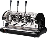 La Pavoni Bar 3L-B Lever Espresso Coffee Machine with Chromed Brass Groups, Golden Black, 22.5 Liter Boiler, Manual Boiler Water Charge Button, Manometer for the Boiler Pressure Control