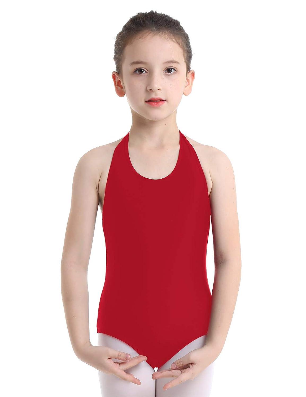 Tiaobug Body da Ginnastica Artistica Bambina Vestito da Balletto Leotard Body da Danza Classica Abito da Ballo Esercizio Spettacolo Ballerina Dancewear 3-14/Anni