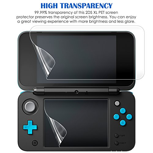 4 in 1 Protective Kit Compatible New Nintendo 2DS XL, AFUNTA Zipper Carrying Case, Silicone Cover, Stylus & 2 PET Films Screen Protectors for Top & Bottom Screens, for 2DS LL & Accessories - Black by AFUNTA (Image #5)