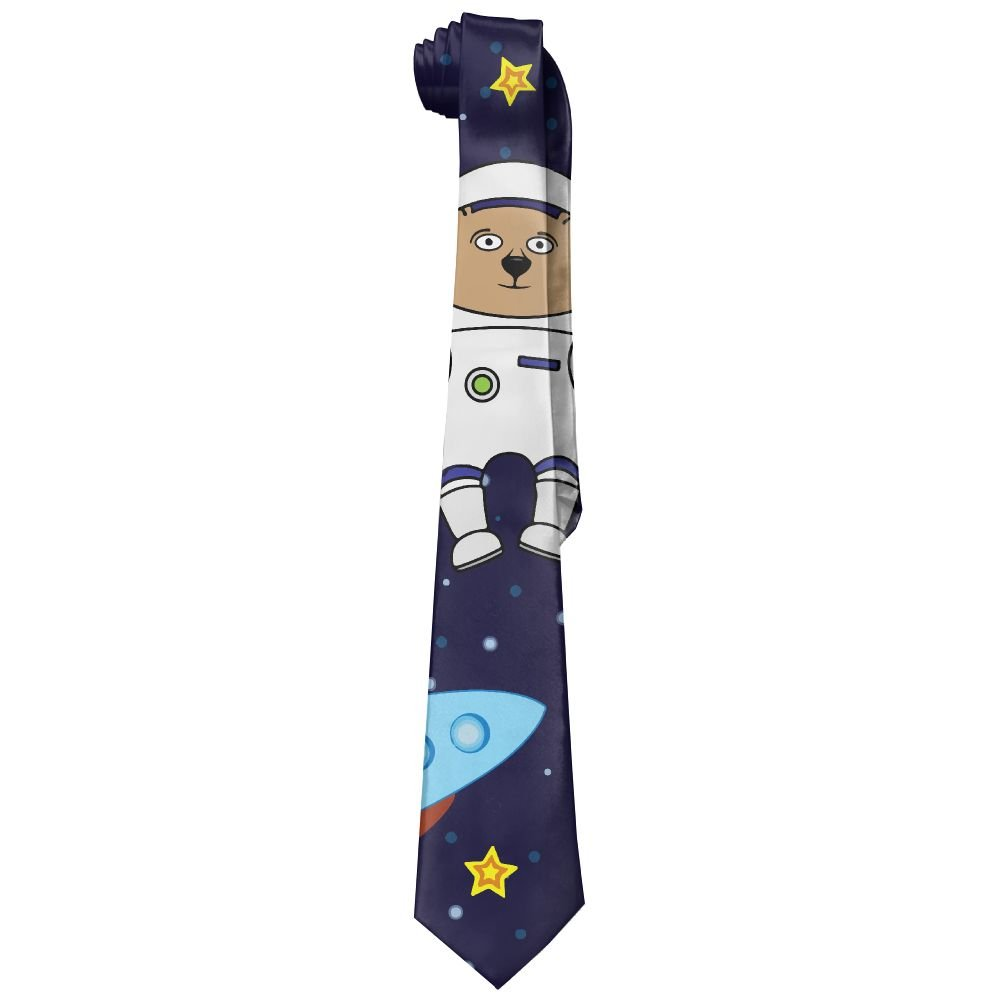 Mens Astronauts Space Travel Fashion Casual Tie Necktie