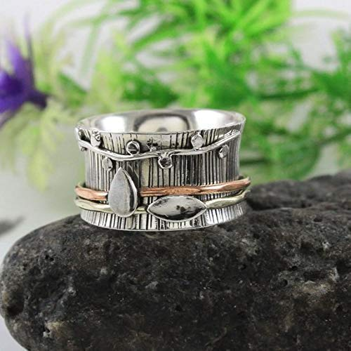 Amazon.com: Life of tree meditation ring,925 Sterling silver ...