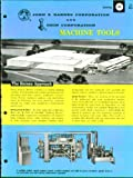 John S Barnes & Odin Machine Tool catalog 1964 offers
