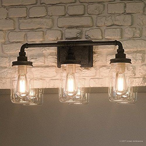 luxury industrial bathroom light medium size 11 h x 21 5 w with