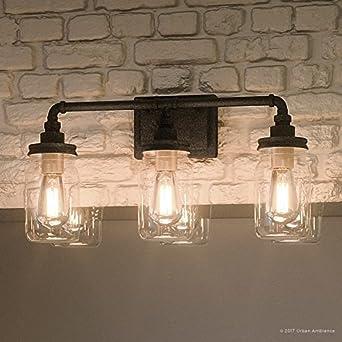 shabby chic bathroom lighting. Luxury Industrial Bathroom Light, Medium Size: 11\u0026quot;H X 21.5\u0026quot;W, Shabby Chic Lighting W