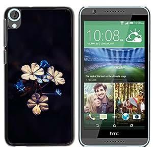 TopCaseStore / la caja del caucho duro de la cubierta de protección de la piel - Beautiful Flowers - HTC Desire 820