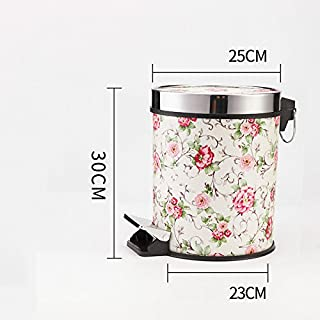 A garbage can, a household kitchen basket, a living room, a toilet and a small garbage can,Garden flower,8L