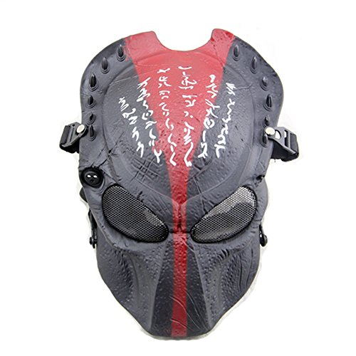 ATAIRSOFT Tactical Airsoft Paintball Alien Vs Predator Protective Full Face Mask (Best Predator Mask)