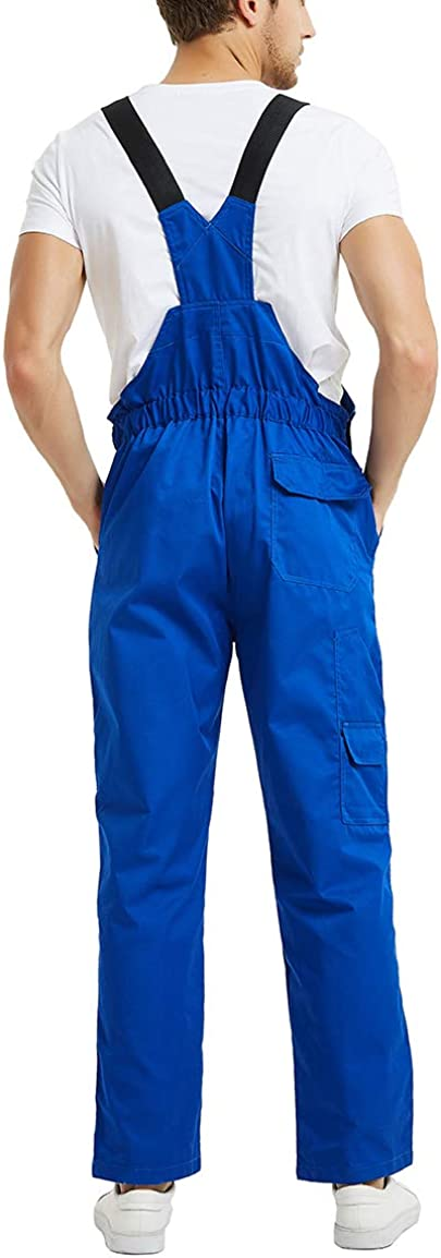 Work Cargo Pants TOPTIE 8.5 Oz Mens Big and Tall Bib Overall with Tool Pockets