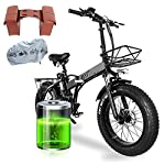 51W5uw8gCML. SS150 20 Pollici Bici Elettrica Pieghevole, Motore 750W Batteria Ion Litio 48V 15AH con 4.0 ruote fat e Accessori per E-bike
