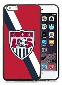 Unique and Grace Case USA Soccer 3 iPhone 6 Plus 5.5 Inch TPU Case in Black