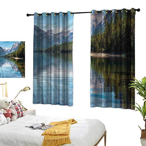 G Idle Sky Polyester Curtain Coastal Bedroom Blackout Curtains McDonald Lake Woods America 63