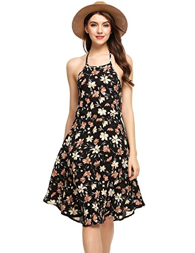 backless halter neck peplum dress - 4