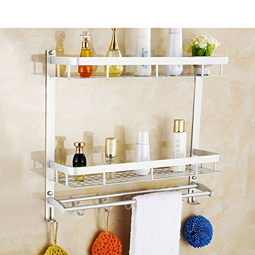 on sale Bathroom racks/Wall mounted double hanging space aluminum rack/Bathroom/toilet storage rack-A