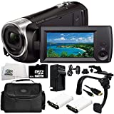 Sony HDR-CX405 HD Handycam Camcorder 9PC Accessory Bundle – Includes 2X Replacement Batteries + AC/DC Rapid Home & Travel Charger + 64GB MicroSD Memory Card + MORE
