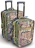 Explorer Hunting Luggage Travel Bag Mossy Oak -Realtree Outdoor Like- Hunting Camo Heavy Duty Rolling Duffel Bag with Pulling Handle Wheels with Adjustable Removable (MossyOakL088-1)