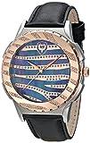Brillier Unisex 12-04 Pantalla analógica Swiss Quartz Reloj negro