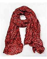 RED Leopard Print Shawl Woman New Grain Scarf HOT Fashion Animal Cotton Blends FAS Sja3247238479