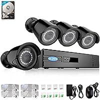 YIMODO 960P 4CH 1TB POE NVR IP Camera Security Surveillance System 4 960P Outdoor Indoor Bullet Cameras