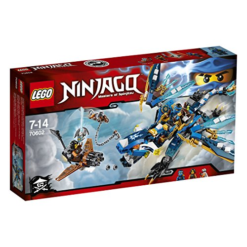 2016 NEW LEGO Ninjago 70602 Jay's Elemental Dragon - 350pcs Building Kit - 51W5x8709XL - 2016 NEW LEGO Ninjago 70602 Jay's Elemental Dragon – 350pcs Building Kit