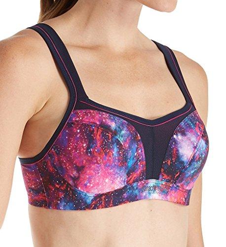 32dd Sports Bra (Panache Women's Sports Bra Wired Support, Cosmic Print, 32DD)