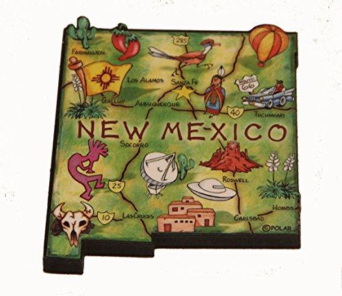 (New Mexico State Decowood Jumbo Wood Fridge Magnet 3)