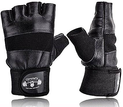 Amazon Com Olimpiafit Gym Workout Gloves Men Black Best For