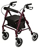 Cardinal Health - Contoured-Back Soft Seat Rollator (Burgundy)