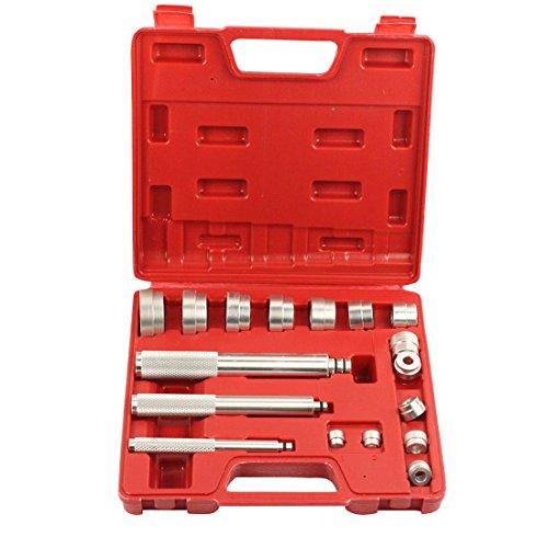 Bushing Installer - Qbace 17 Pc Aluminium Bearing Seal Drivers Removal Tool and Bushing Driver Set