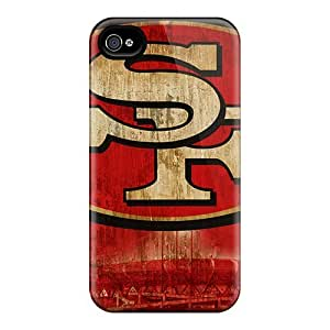 JasonPelletier Iphone 4/4s Shock Absorbent Cell-phone Hard Covers Custom Colorful San Francisco 49ers Pattern [heR10138HwCn]