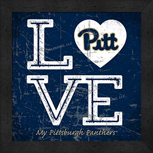 Prints Charming College Love My Team Logo Square Color Pittsburgh Panthers Framed Posters 13x13 Inches - Square Pittsburgh Panthers