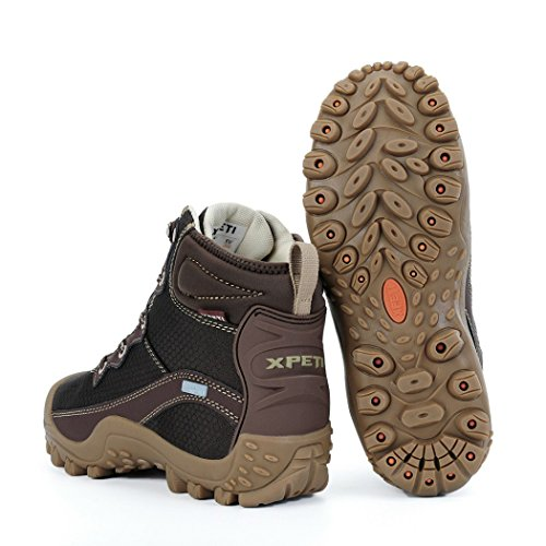 Classical Top XPETI Women's Hiking Mid Coffee DIMO Boots v4qnxfwOq