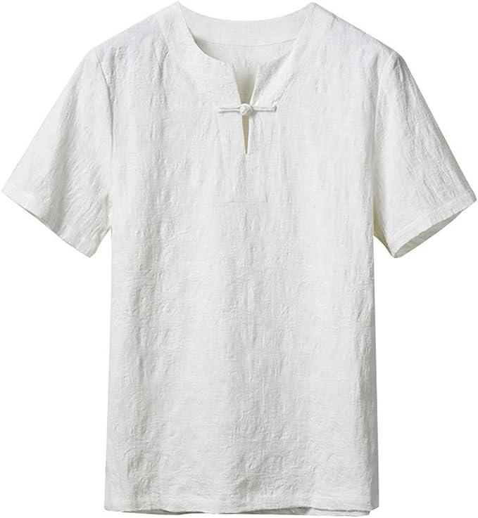HucodeVan Camisas Manga Corta Hombre Casual Estilo étnico ...