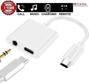 Amazon.com: BDDXY USB C/Tipo C a 0.138 in Aux Cargador de ...