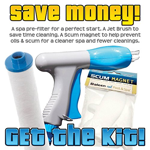 Pre Filter Brush (Baleen Filters Spa Filter Essentials Kit - Pre-Filter, Jet Brush, and Scum Magnet Model BA-KSPAESS)