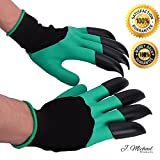 Gardening Gloves / Garden Genie Gloves / Claw Gloves for Digging & Planting / Both Hands / As Seen on TV / Built in Claws - Perfect for Planting, Raking, and Digging (Both Claws / Pair)