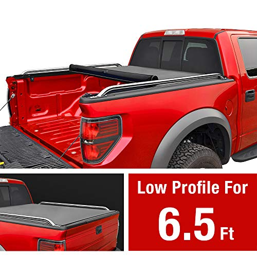MaxMate Low Profile Roll Up Truck Bed Tonneau Cover Works with 2009-2018 Dodge Ram 1500; 2010-2018 Ram 2500 3500 | Fleetside 6.5' Bed | for Models Without Ram Box -