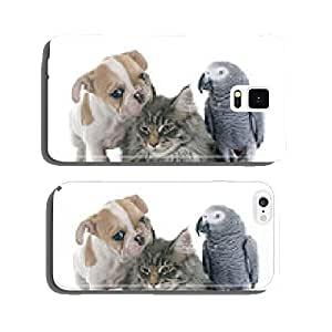 parrot, puppy and cat cell phone cover case Samsung S6