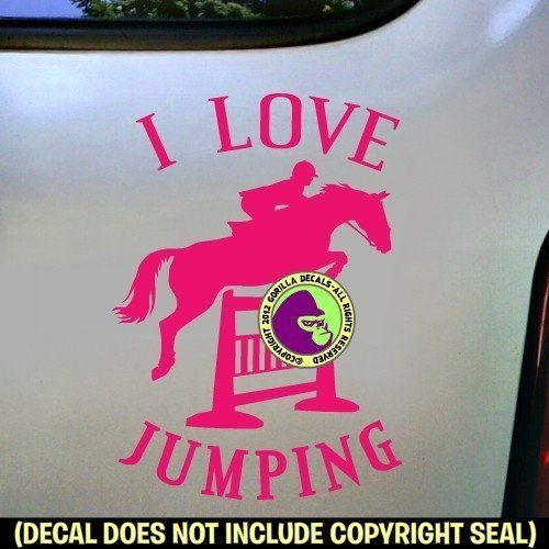 I LOVE JUMPING Hunter Jumper Vinyl Decal Sticker C