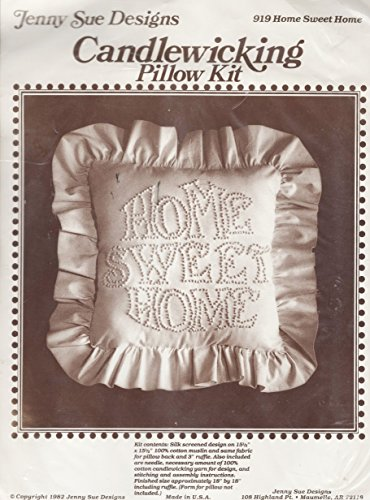 - Candlewick Candlewicking Pillow Kit - HOME SWEET HOME - 18